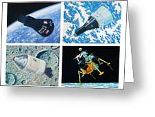 Nasa Manned Spacecraft Of The 1960's. Greeting Card