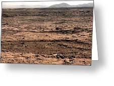 Nasa Mars Panorama From The Mars Rover Greeting Card