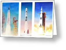 Nasa Rockets Greeting Card