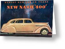 Nash 400 - Vintage Car Poster Greeting Card