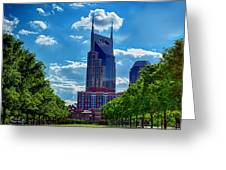 Nashville Batman Building Landscape Greeting Card