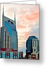 Nashville From Below Greeting Card