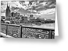 Nashville From The Shelby Bridge Greeting Card