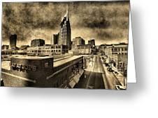 Nashville Grunge Greeting Card
