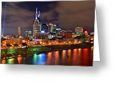 Nashville Is A Colorful Town Greeting Card