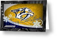 Nashville Predators Christmas Greeting Card