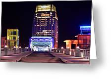 Nashville Sight Night Skyline Pinnacle Panorama Color Greeting Card