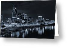 Nashville Skyline At Night Greeting Card