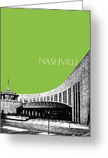 Nashville Skyline Country Music Hall Of Fame - Olive Greeting Card by DB Artist
