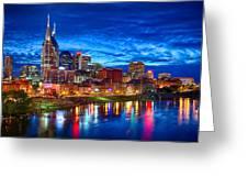 Nashville Skyline Greeting Card by Dan Holland