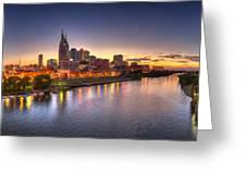 Nashville Skyline Panorama Greeting Card