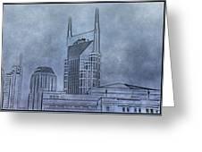 Nashville Skyline Sketch Greeting Card