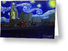 Dedication To Van Gogh Nashville Starry Nights Greeting Card