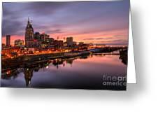 Nashville Tennessee Skyline  Greeting Card