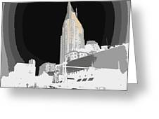 Nashville Touched In Color Greeting Card