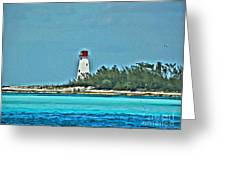Nassau Bahama Lighthouse Greeting Card
