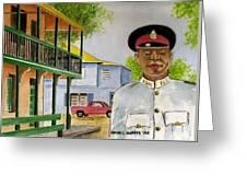 Nassau Bahamas Policeman Greeting Card