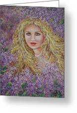 Natalie In Lilacs Greeting Card