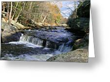 Natchaug River Falls Greeting Card