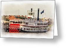 Natchez Sternwheeler Paint Greeting Card