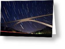 Natchez Trace Bridge At Night Greeting Card