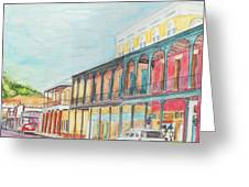 Natchitoches Front Street Greeting Card by Ellen Howell