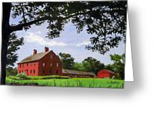 Nathan Hale Homestead Coventry Connecticut Greeting Card