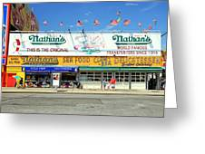 Nathan's Coney Island Greeting Card