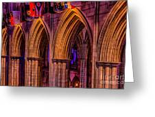 National Cathedral Arches Greeting Card
