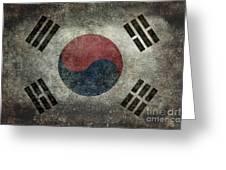 National Flag Of South Korea Desaturated Vintage Version Greeting Card