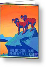 National Parks Wild Life Poster Greeting Card