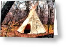 Native American Abode Greeting Card