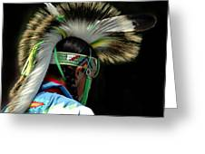 Native American Boy Greeting Card