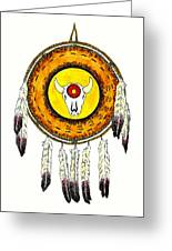 Native American Ceremonial Shield Number 2 Greeting Card