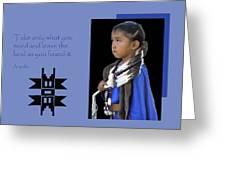Native American Saying Greeting Card