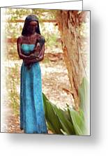 Native American Statue Greeting Card