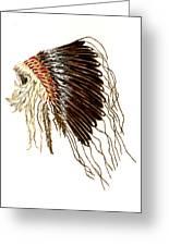 Native American War Bonnet - Plains Indians Greeting Card