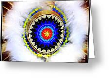 Native American White Fur Headdress Greeting Card