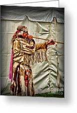 Native American With Blowgun Greeting Card