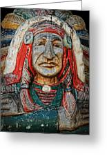 Native American Wood Carving Greeting Card