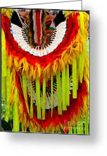 Native American Yellow Feathers Ceremonial Piece Greeting Card