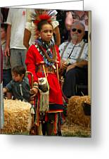 Native American Youth Dancer Greeting Card