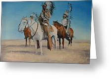 Native Americans On Horseback Greeting Card