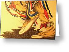Native Dancer's Feet 1 Greeting Card
