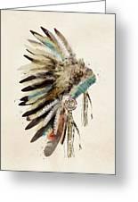 Native Headdress Greeting Card