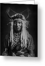 Native Man Circa 1900 Greeting Card
