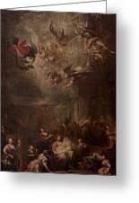 Nativity Of Mary Greeting Card by Andrea Celesti