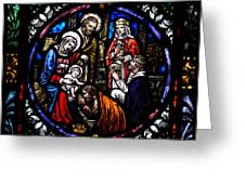 Nativity With Kings Greeting Card