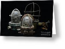 Natuical - Vintage Ship Deck Lights Greeting Card