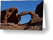 Natural Arch Valley Of Fire State Park Nevada Greeting Card